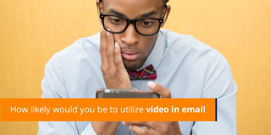 How likely would you be to utilize video in email