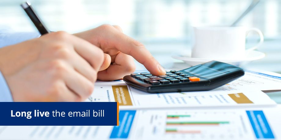 The online bill is dead. Long live the email bill!
