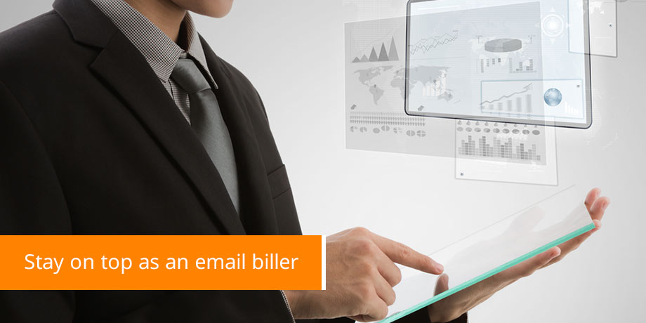 Maximizing delivery rates on email billing