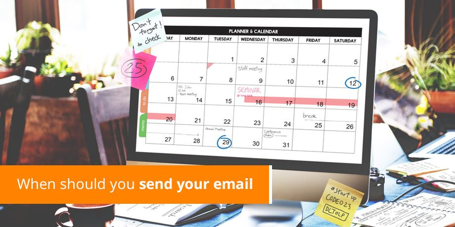 Which day is the right day for email?