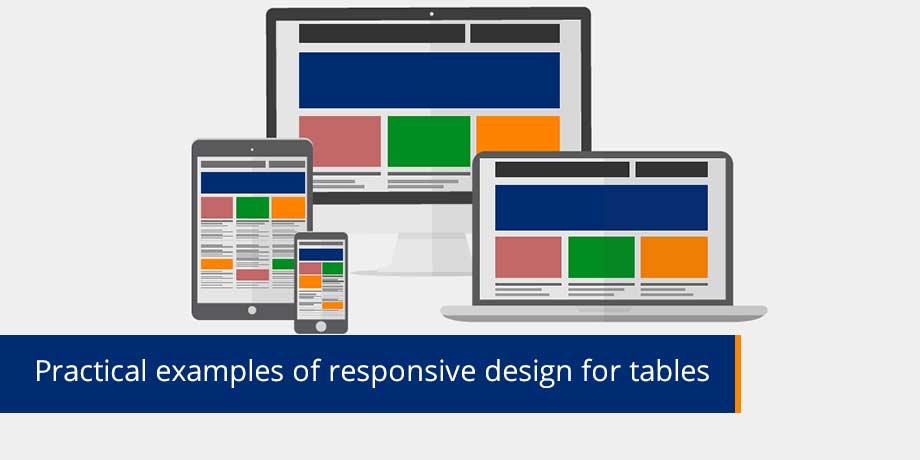 Responsive design techniques for tables