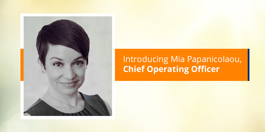 Get to know our digital expert Mia Papanicolaou - Chief Operating Officer
