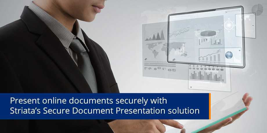 Present Online Documents Securely With Striatas Secure Document Presentation Solution